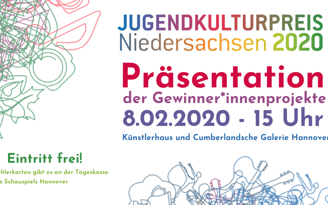 Präsentation der Gewinner*innenprojekte Jugendkulturpreis 2020